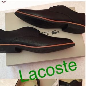 Women's Lacoste Leather Shoes Cambrai Oxford Black